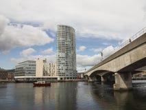 Río Lagan Belfast Fotografía de archivo
