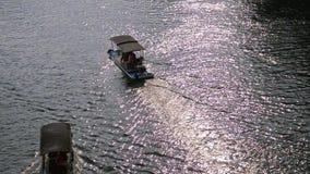 Río largo de Yu y paisaje de la montaña del karst almacen de metraje de vídeo