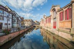 Río Lauch y poca Venecia en Colmar Fotos de archivo libres de regalías