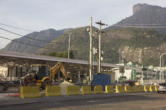 Río 2016: Los trabajos del metro pueden retrasar debido a la crisis económica Fotos de archivo libres de regalías