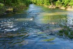 Río majestuoso de Roanoke foto de archivo