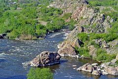 Río meridional del fallo de funcionamiento Día de resorte fotografía de archivo libre de regalías