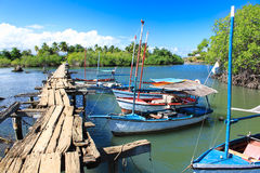 Río Miel, Baracoa, Cuba Foto de archivo libre de regalías