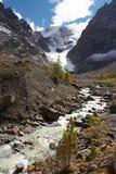 Río, montañas y árboles. Imágenes de archivo libres de regalías