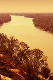 Río murray en la puesta del sol Imagenes de archivo