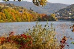 Río Neckar en Heidelberg foto de archivo libre de regalías