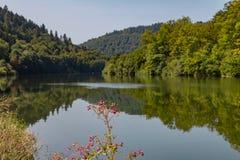 Río Neckar en Heidelberg fotografía de archivo