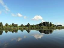 Río Nemunas, Lituania Imagen de archivo libre de regalías