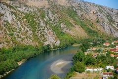 Río Neretva, Pocitelj, Bosnia y Hercegovina Fotos de archivo libres de regalías
