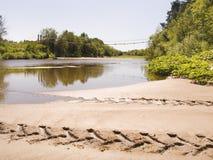 Río norteño Foto de archivo libre de regalías