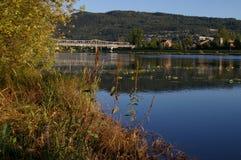 Río Noruega de Drammens fotos de archivo libres de regalías