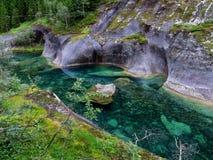 Río noruego puro Foto de archivo libre de regalías