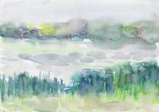 Río por la mañana Imagenes de archivo