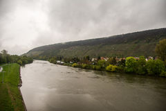 Río principal en Klingenberg Fotos de archivo libres de regalías