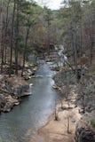 Río que atraviesa árboles Fotos de archivo libres de regalías