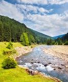 Río rápido de la montaña imagen de archivo libre de regalías