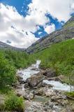 Río rápido de la montaña Fotos de archivo libres de regalías