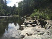 Río rocoso Fotos de archivo libres de regalías