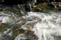 Río salvaje que atraviesa las rocas Fotografía de archivo libre de regalías