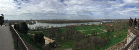 Río Sava y Donava Fotos de archivo libres de regalías