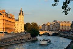 Río Seine Fotografía de archivo libre de regalías
