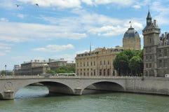 Río Seine - París Fotografía de archivo libre de regalías