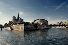 Río Sena en París Fotos de archivo libres de regalías