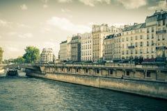 Río Sena París Fotos de archivo