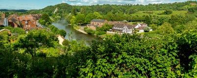 Río Severn, Bridgnorth Fotografía de archivo