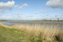 Río Severn en Framilode superior fotografía de archivo