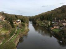 Río Severn en Ironbridge Imágenes de archivo libres de regalías