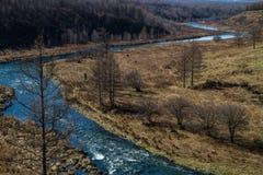 Río sin hielo Foto de archivo libre de regalías
