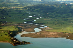 Río sinuoso Imagen de archivo