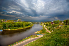 Río Sog, Gomel imagen de archivo