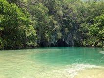 Río subterráneo de Puerto Princesa foto de archivo