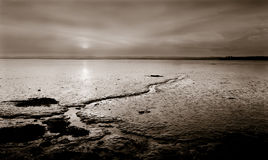 Río Tay Escocia Reino Unido de la puesta del sol Imagenes de archivo