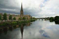 Río Tay Perth Scotland Imagen de archivo libre de regalías
