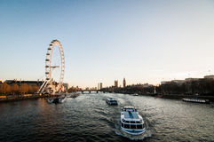 Río Thames, Londres Imágenes de archivo libres de regalías