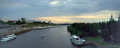 Río Tura Panorama Imagenes de archivo