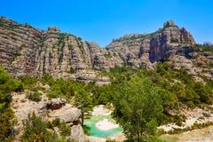 Río Ulldemo de Beceite en Teruel España fotos de archivo libres de regalías