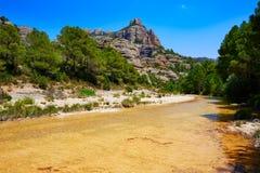 Río Ulldemo de Beceite en Teruel España fotos de archivo