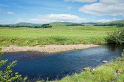 Río Ure - valles de Yorkshire, Inglaterra Foto de archivo