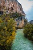 Río Vero en la cordillera de Guara Foto de archivo libre de regalías