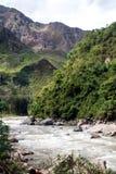 Río Vilcanota - el paseo del tren a Machu Picchu Imágenes de archivo libres de regalías