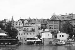 Río vivo Moldava de Europa Kampa del viaje de la República Checa del czechia Imagen de archivo