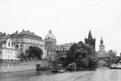 Río vivo Moldava de Europa Kampa del viaje de la República Checa del czechia Fotografía de archivo libre de regalías
