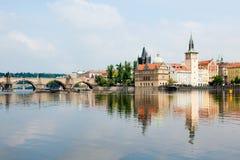 Río Vltava foto de archivo