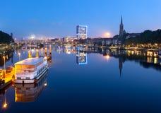 Río Weser Bremen Alemania Foto de archivo libre de regalías