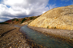 Río y barranca trenzados Imagen de archivo libre de regalías
