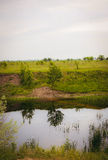 Río y campo Imagenes de archivo